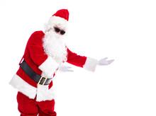 Happy  Santa Claus Isolated On...