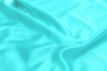 Cyan-Teal Satin Fabric Texture Soft Blur Background