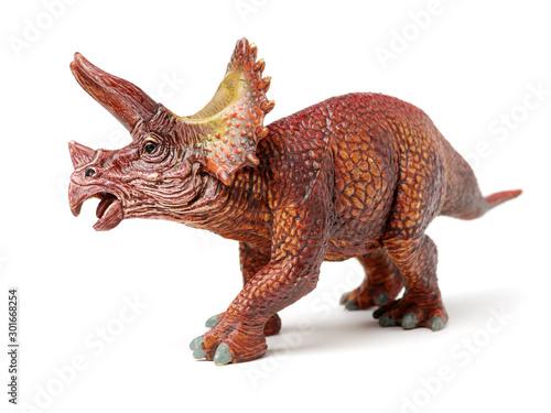Styracosaurus dinosaur figure toy on white background