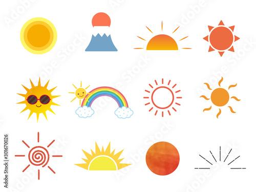 Obraz 太陽アイコンセット4 - fototapety do salonu