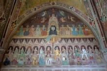Panoramic View Of Interior Of Basilica Of Santa Maria Novella