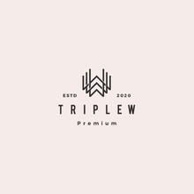 Triple W Monogram Www Letter Hipster Retro Vintage Lettermark Logo For Branding Or T Shirt Design