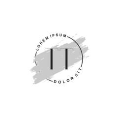 Fototapeta na wymiar Initial letter TT beauty fashion, make up logo
