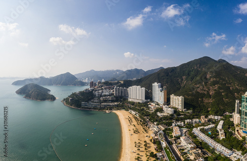 Photo  Aerial view of the famous Repulse Bay beach in Hong kong island