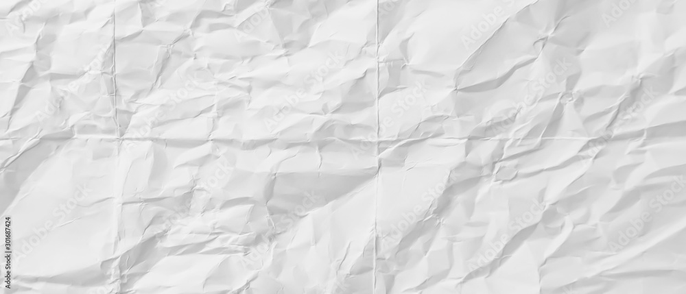 Fototapety, obrazy: crumpled White paper, copy space for text abstract background blurred, Blank portrait mock-up, use banners products business cards to showcase your.