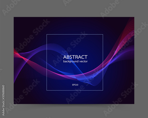 Fotomural Modern colored poster line background vector.