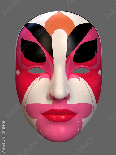 Obraz na plátně  Mask in art style. 3d illustration