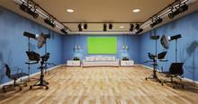 News Studio Blue Room Design B...