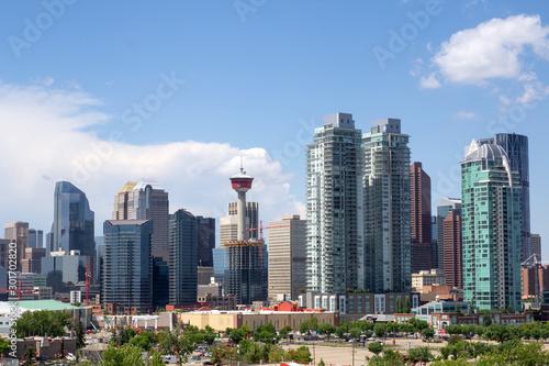 Fototapety, obrazy: Kanada, Calgary, Skyline vom Enmax Park