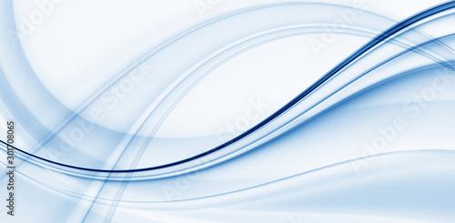 Obrazy abstrakcyjne  fractal-abstraction-for-design-with-blue-waves