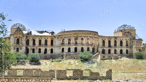 """Darul Aman Palace"" The ancient King's Palace in Kabul, Afghanistan, After destroyed, shoot photo from the street close to the Kabul Museum Wallpaper Mural"