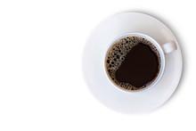 White Ceramic Cup Of Hot Black...