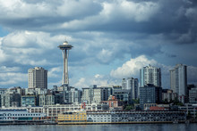 Seattle Waterfront Skyline And...