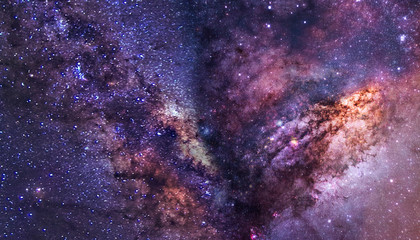 the milky way in outer space