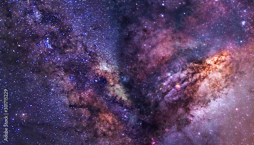 the milky way in outer space Wallpaper Mural