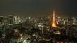 timelapse Tokyo Tower in Tokyo City,Japan