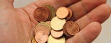Eine Hand Voll Kleingeld
