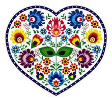 Beautiful, Colorful Heart. Fol...
