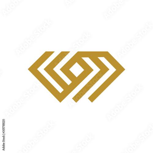 Photo Creative Diamond Concept Logo Design Template