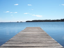 Pier On The Blue Lake