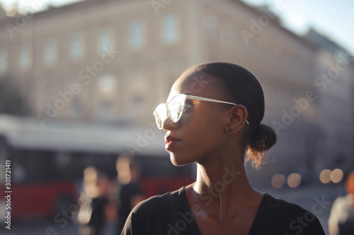 obraz dibond Modern beauty