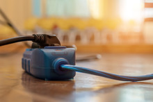 Blue And Black Extension Cord ...