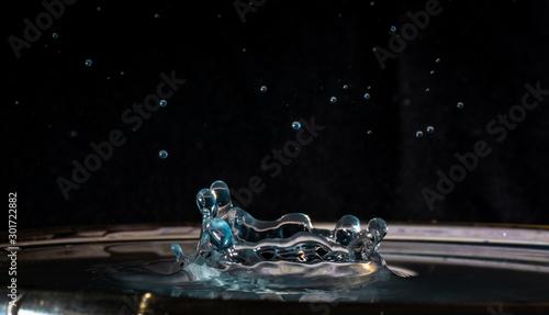 Gocce, acqua, drop, goccia d'acqua Canvas-taulu