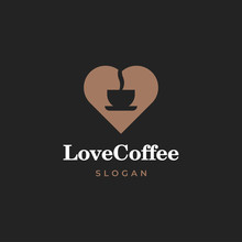 Heart Or Love With Coffee Cup ...