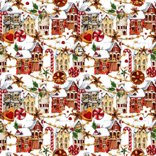 Seamless Pattern With Winter T...