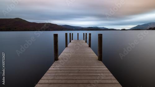 Long exposure shot of Ashness Jetty, Derwent Water Fototapet
