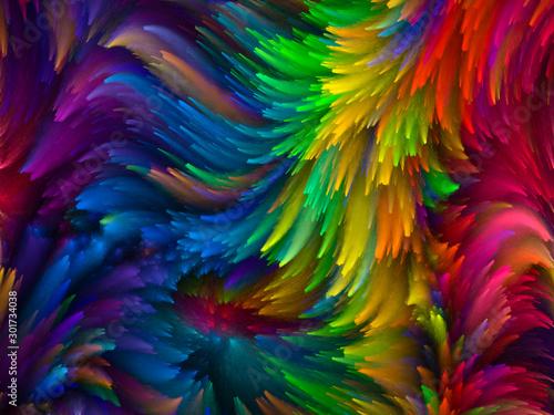 Fototapeta Swirling Paint obraz na płótnie