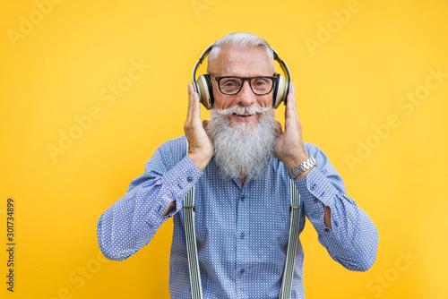 Senior hipster man portrait Fototapete