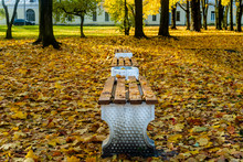 Several Wooden Benches In The ...