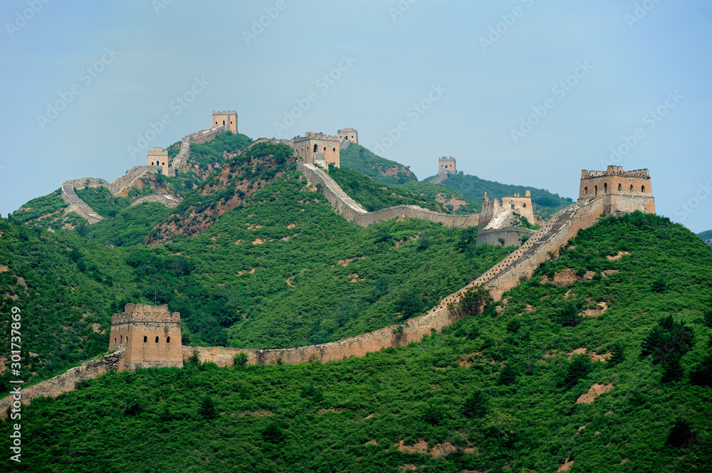 Fotografie, Obraz Great Wall of China in Simatai area,  about 120km from Beijing.