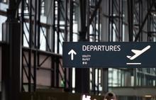 Departures Airport Street Sign