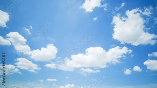 clear blue sky background,clouds with background. Canvas Print