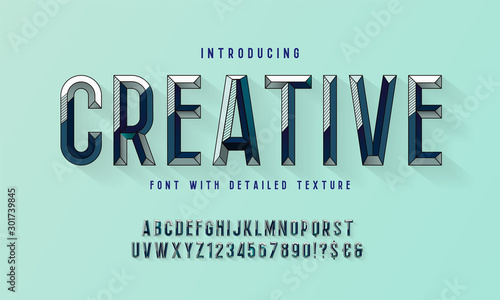 Fotografia, Obraz Chiseled block letters