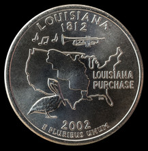 Coin 25 US Cents. States And T...
