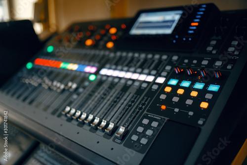 Foto auf Gartenposter Musikladen Black digital keyboard in music store, nobody