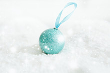 Beautiful Blue Christmas Ball ...
