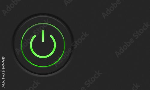 Power button Canvas Print