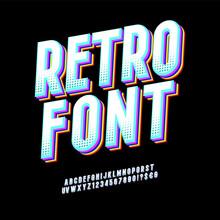 Original Typeface. Retro Font ...