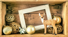 Christmas Decoration Wooden Bo...