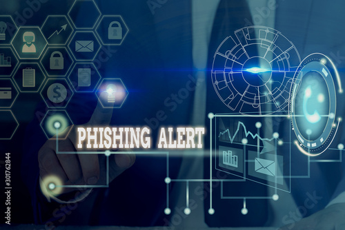 Fotomural Conceptual hand writing showing Phishing Alert