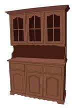 Buffet Furniture Realistic Vector Illustration Isolated