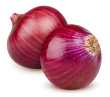 Isolated Onions. Two Whole Red...