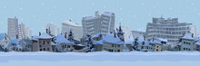 Panorama Of The Winter Backgro...