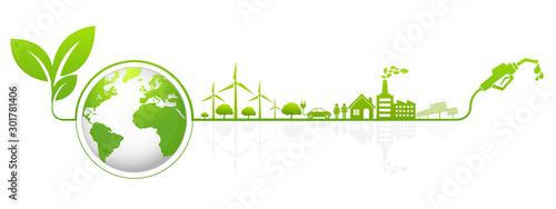Fototapeta International Greeting Biodiesel Day for Eco Environment obraz