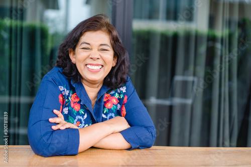 Pinturas sobre lienzo  Portrait of senior woman.Senior Adult Women Smiling Happy Concept