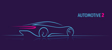 Modern Car Minimalistic Line I...